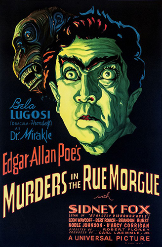 "Bela Lugosi ""Murders in the Rue Morgue"""