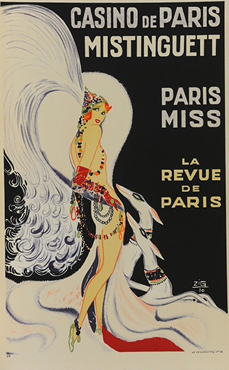 Casino De Paris Mistenguette, by Zig (Louis Gaudin)