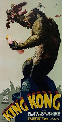 King Kong 3 Sheet Lithograph