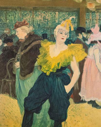 Le Clownesse au Moulin Rouge, Henri de Toulouse-Lautrec