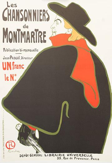 Les Chansonniers De Montmartre Vintage Advertisement