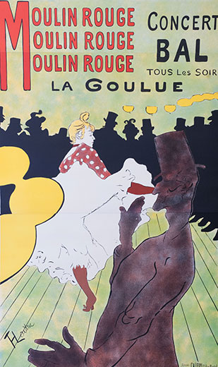 Moulin Rouge La Goulue, Henri de Toulouse-Lautrec
