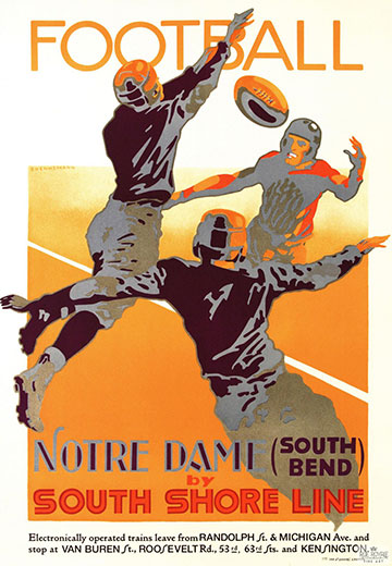 Notre Dame Football by South Shore Line
