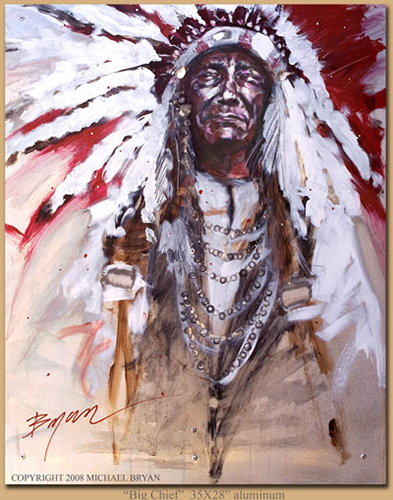 Big Chief, 35x28 (aluminum), Gallery Retail: $8,000.00