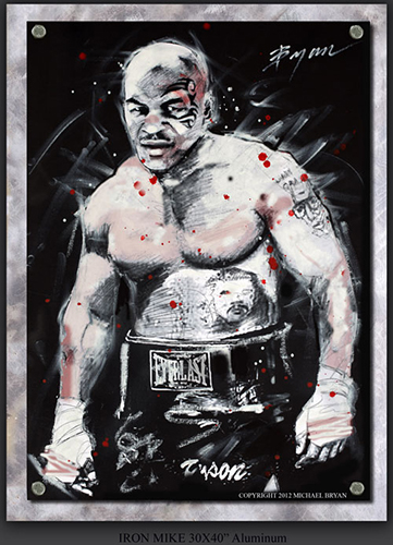 Iron Mike Tyson, 30x40 (Aluminum), Gallery Retail: $8,000.00