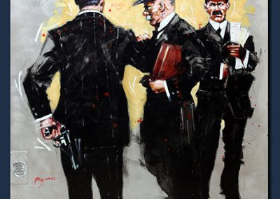The Detectives, 50x48 (hand worked aluminum), Gallery Retail: $16,000.00