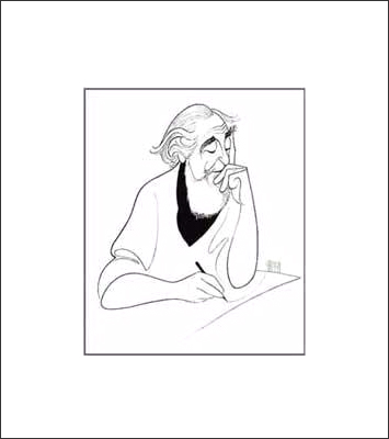 Al Hirschfeld, Self Prtrait, 21x27, Gallery Retail: $1,900.00