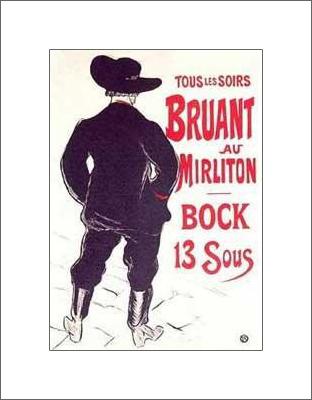 Bruant au Mirliton Bock 13 Sous