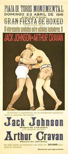 Jack Johnson, Arthur Cravan, 1916 Boxing