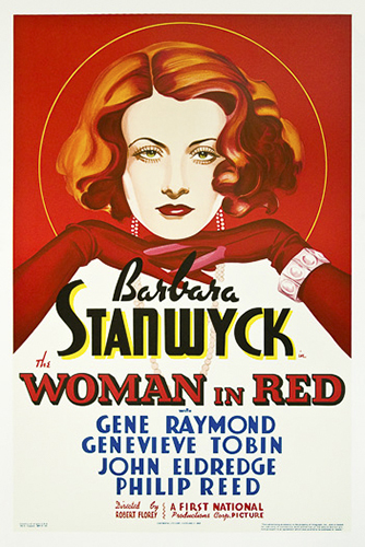 "Barbara Stanwyck ""Woman in Red"""