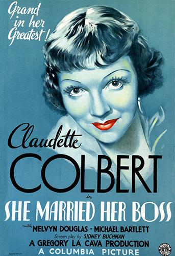 "Claudette Corbert ""She Married Her Boss"""