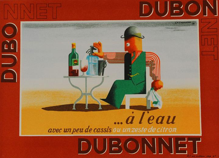 Dubonnet … A Leau (1935) by A.M. Cassandre
