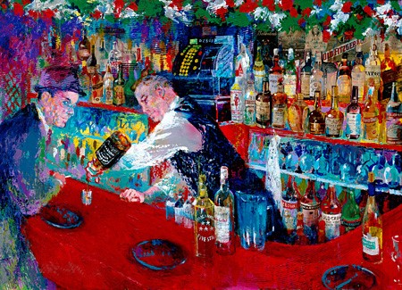 """Frank at Raos by LeRoy Neiman, Size: 27 5/8""""h x 38""""w, Published 2005, Limited Edition Serigraph, Numbered 400 pieces, Signed and numbered by LeRoy Neiman"""