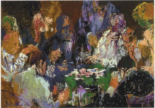 """International Poker by LeRoy Neiman, Size: 26""""h x 38""""w, Published 2004, Limited Edition Serigraph, Numbered 400 pieces, Signed and numbered by LeRoy Neiman"""