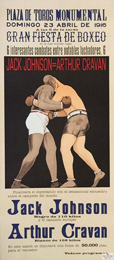 Jack Johnson, Arthur Cravan, 1916 Boxing