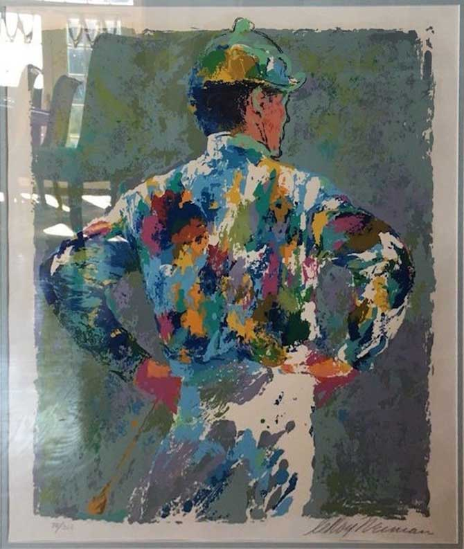 """Jockey by LeRoy Neiman, Size: 20 3/8""""h x 16 1/4""""w, Published 1972, Limited Edition Serigraph Numbered 300 pieces, Signed and numbered by LeRoy Neiman"""
