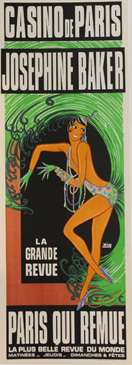 Josephine Baker, Casino de Paris, by Zig (Louis Gaudin)
