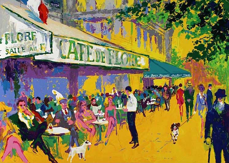 """L' Apres Midi D'Or, by LeRoy Neiman, Size: 23 1/2""""h x32""""w, Published 1999, Limited Edition Serigraph, Numbered 275 pieces, Signed and numbered by LeRoy Neiman"""