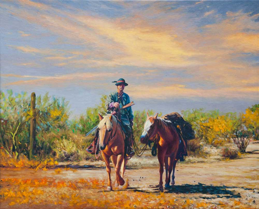 """One Day, by Victor Hohne, Size: 24""""h x 30""""w, original painting oil on canvas, Tucson"""