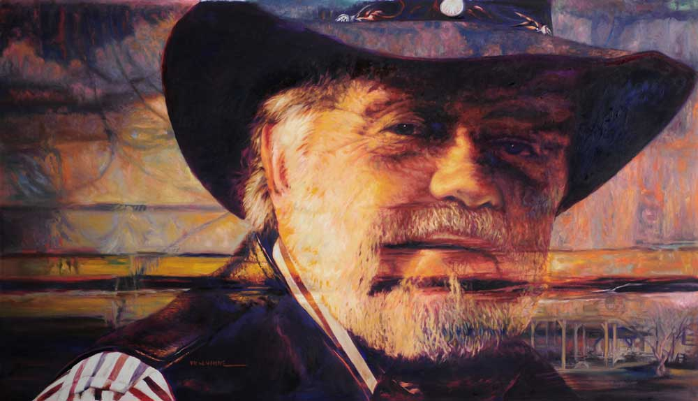 """The Cowboy, by Victor Hohne, Size: 24""""h x 36""""w, original painting oil on canvas, Trail Boss,"""