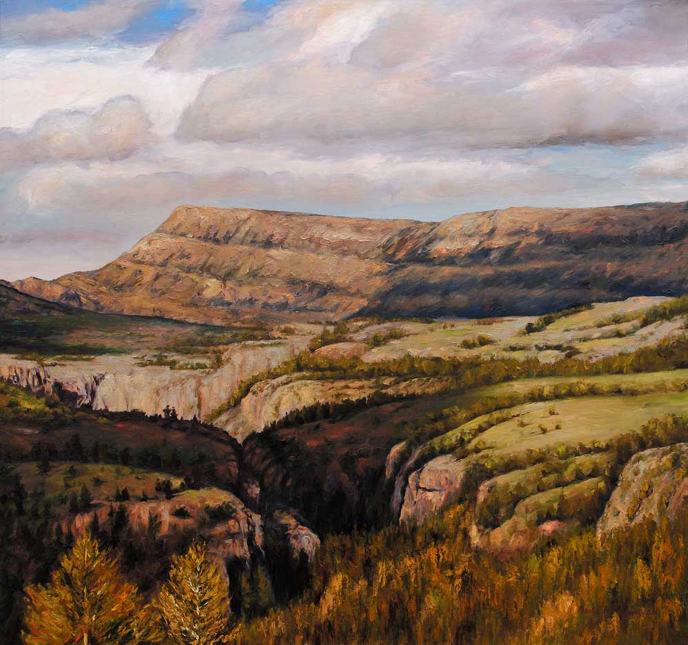 Wyoming, 36x36 original painting, oil on canvas by Victor Hohne