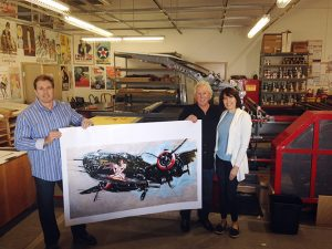 Tom Doyle, Jennifer and Michael at Rue Royale Fine Art Lithography.
