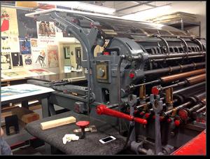 Antique printer for lithographs