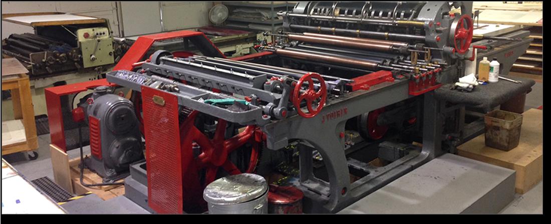 Antique Lithography Printer